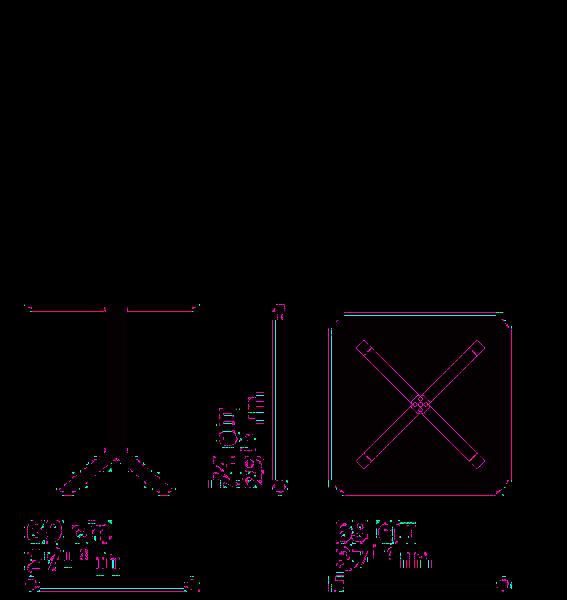 Misure Tavolo Quadrato  PAN B01 – Top FX-Q69 / Pan