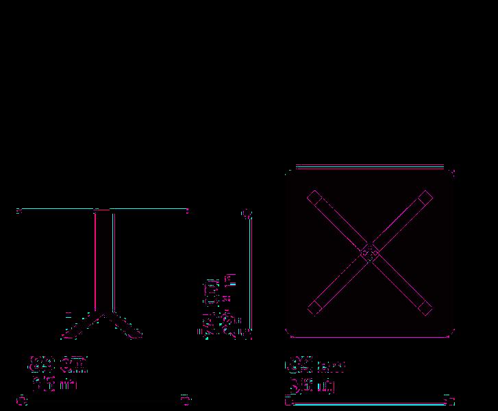 Misure Tavolo Quadrato  PAN B01 – Top FX-Q89 / Pan
