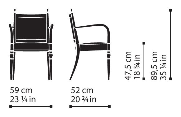 Misure Dining Armchair 02 / Century