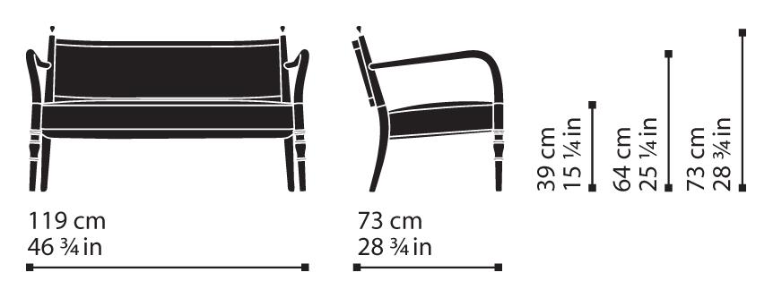 Misure Lounge Settee 05 / Century