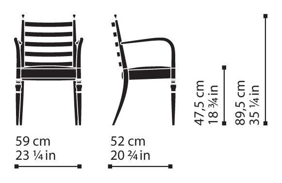 Misure Dining Armchair 12 / Century