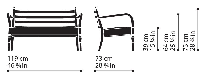 Misure Lounge Settee 15 / Century