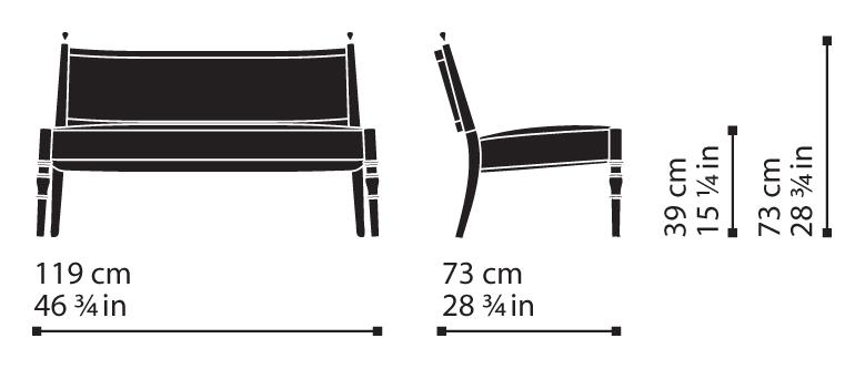 Misure Lounge Settee 25 / Century