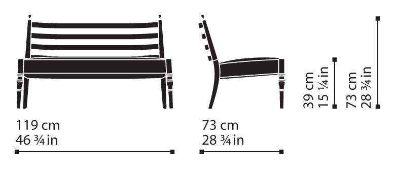 Misure Lounge Settee 35 / Century