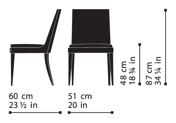 Misure Chair 101 – Wise / Onda