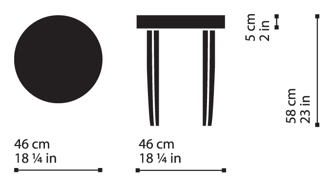 Misure Round Coffee Table T01 / Onda