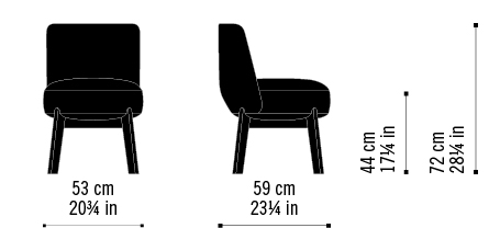 Misure Chair Rond 01 L / Nomad