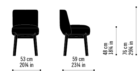 Misure Chair Rond 01 H / Nomad