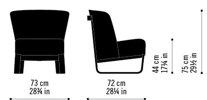 Misure Poltrona Lounge Skid 04 / Nomad