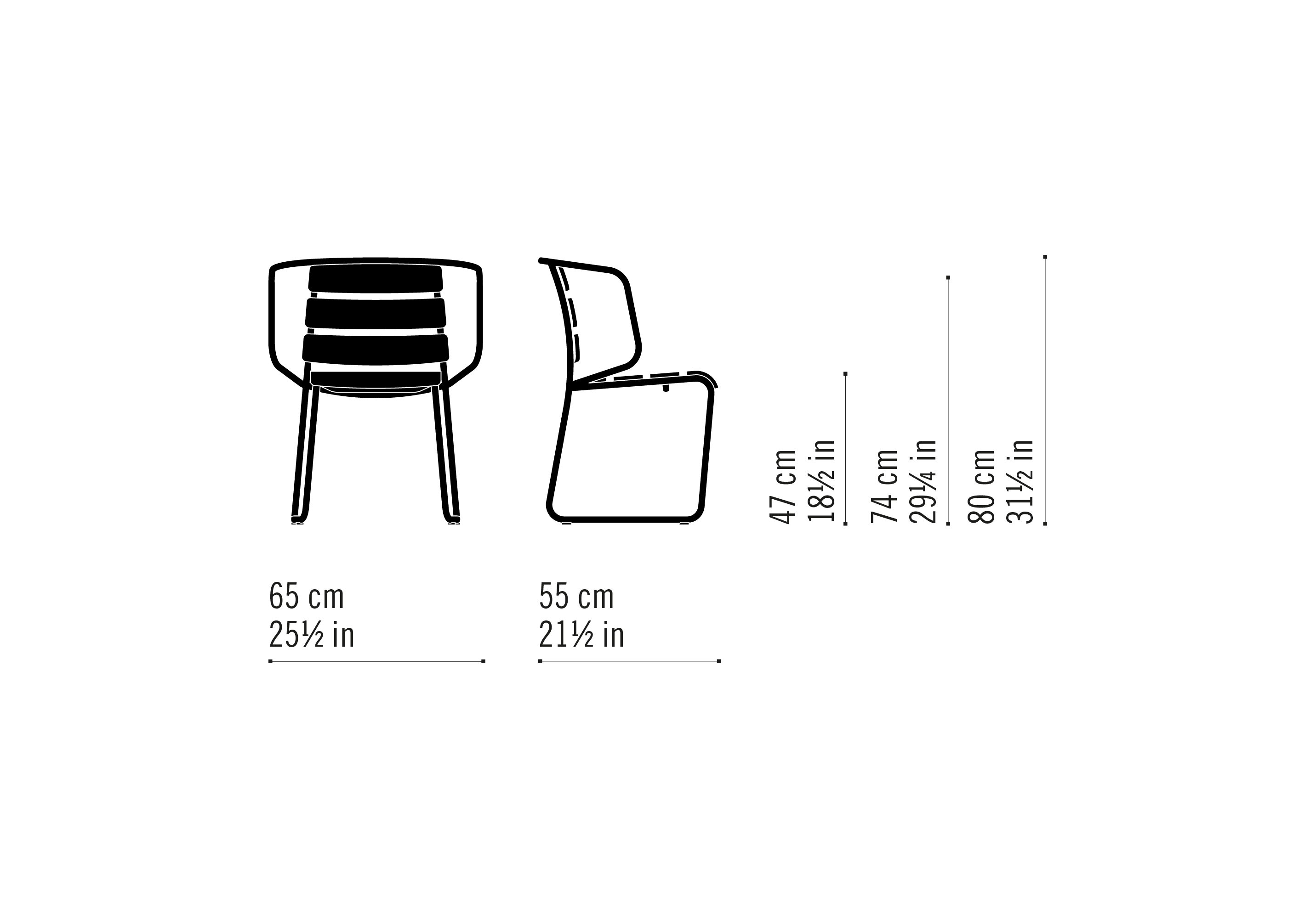 Misure Stacking Chair 02 / Lido Out