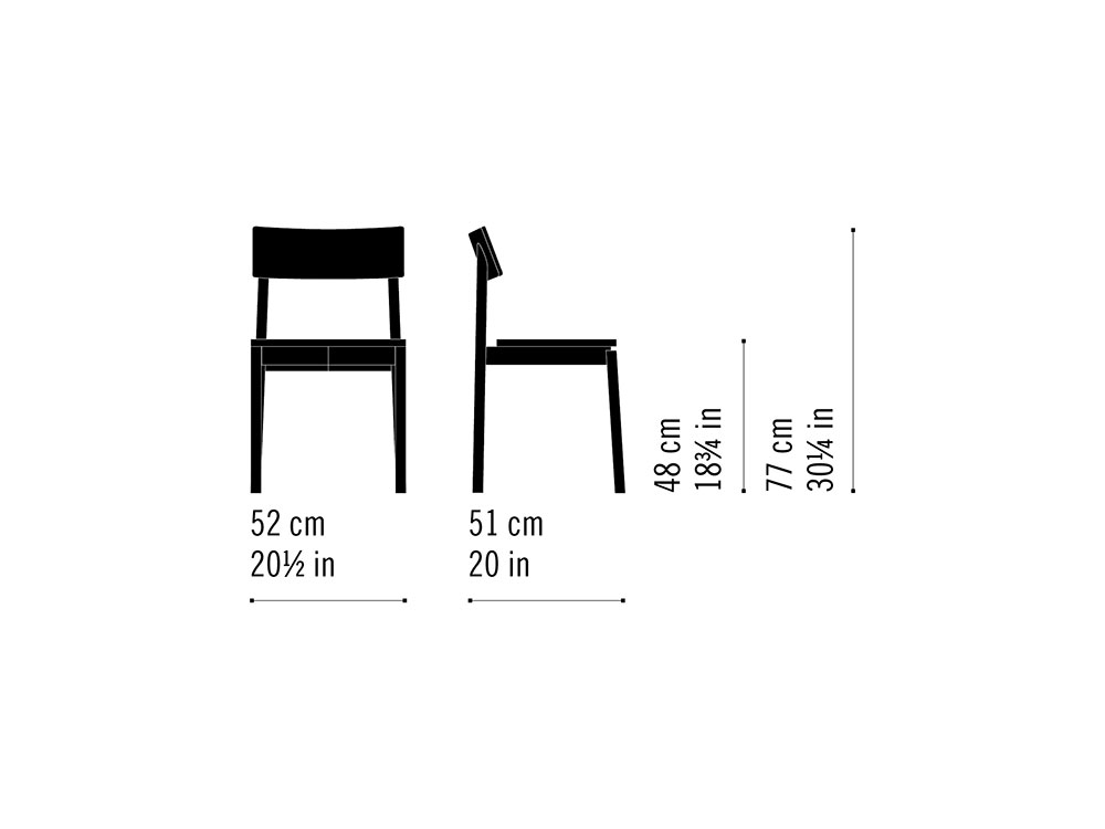 Misure Stacking chair 11 / Rib