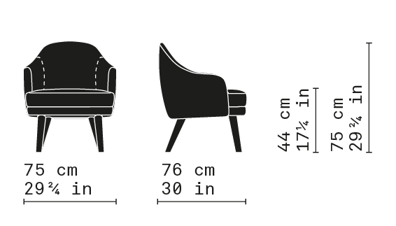 Misure Lounge Armchair 04 / Carmen