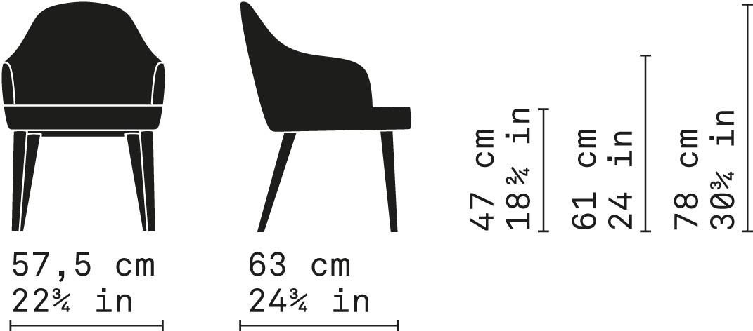Misure Dining Armchair 52 / Carmen