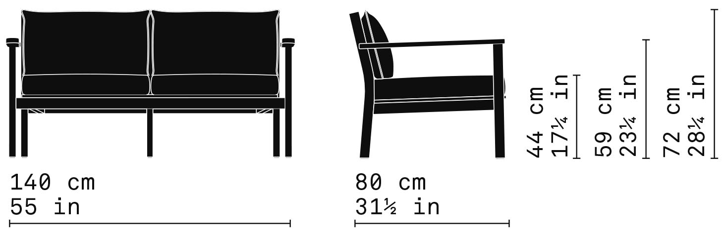 Misure Lounge twoseater sofa 25 / Capri