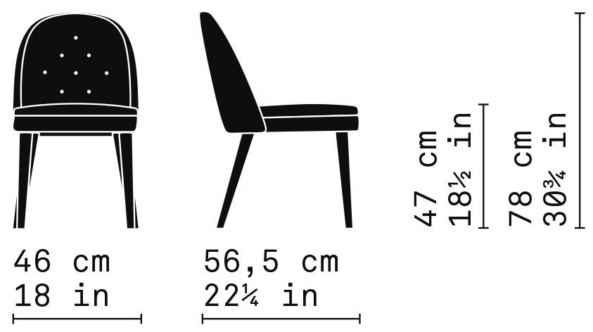 Misure Dining Chair 01/DB / Carmen