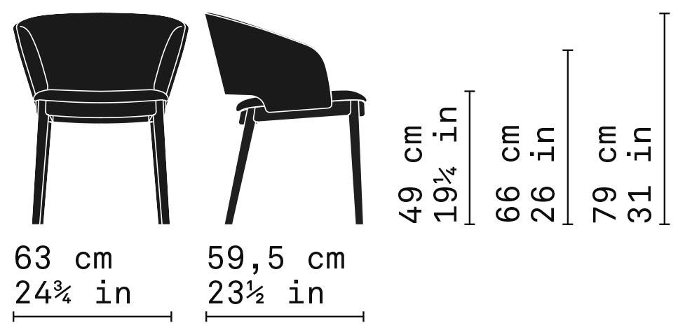 Misure Dining Armchair 02/MG / Odeon