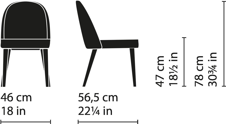 Misure Dining Chair 51 / Carmen