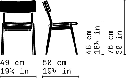 Misure Dining Stacking Chair 01 / Frame