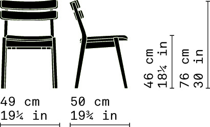 Misure Dining Stacking Chair 11 L / Frame