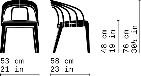 Misure Poltroncina Dining / Loop