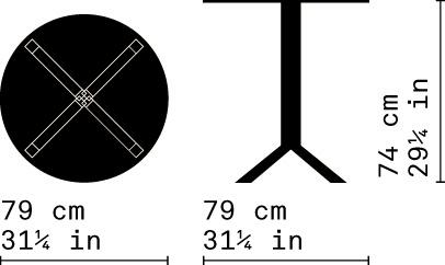 Misure Tavolo B01 / Pan