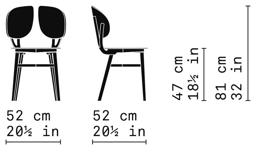Misure Dining Chair 11L / Filla