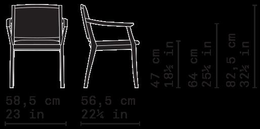 Misure Dining Armchair 02 / Elegance
